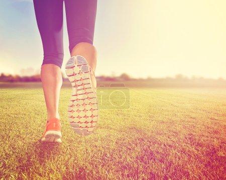 Pair of legs on grass