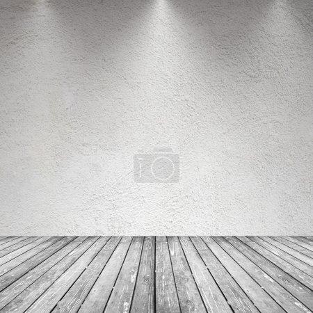 leerer Raum mit Wand und Holzboden