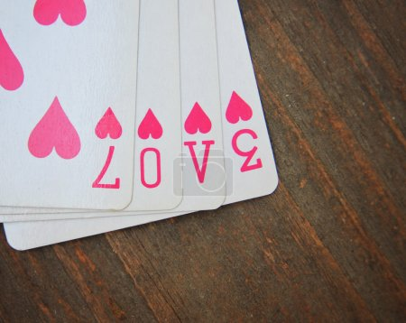 Cards with the word love