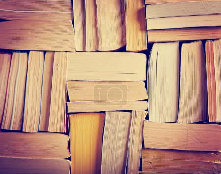 Stack of paperback books