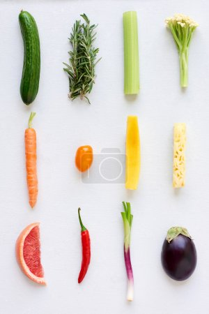 Fresh organic produce fruit and vegetables