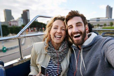 Tourist couple travel