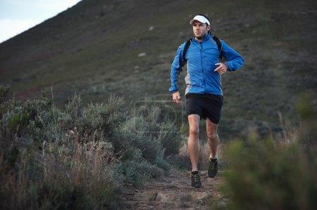 runner training in mountains