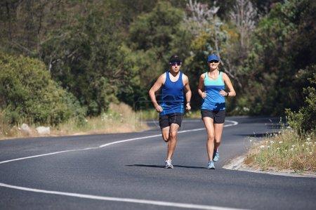 Couple training together for marathon