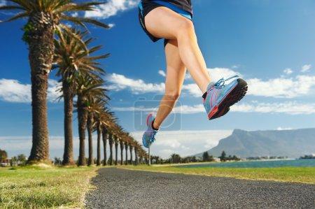 Woman running for fitness marathon