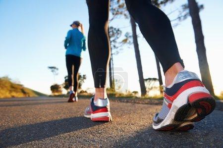 couple training for marathon
