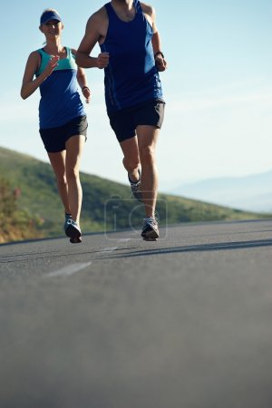 couple training for marathon