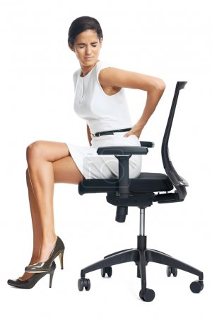 Businesswoman with lower back pain