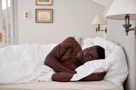 African man sleeping