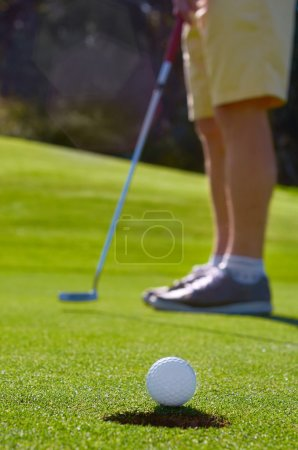 Golf putt green