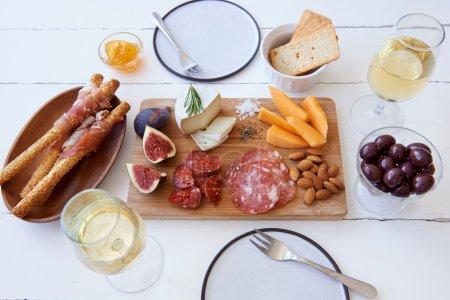 Salami, chorizo, figs and cheese