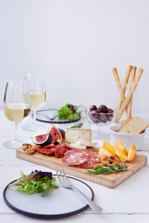Cheese and cured meat board