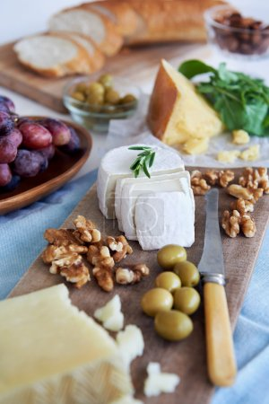Selection of cheese for party