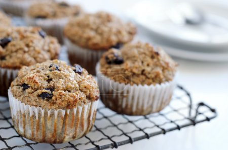 Photo for Fibre rich bran muffin, nutritious healthy snacks - Royalty Free Image