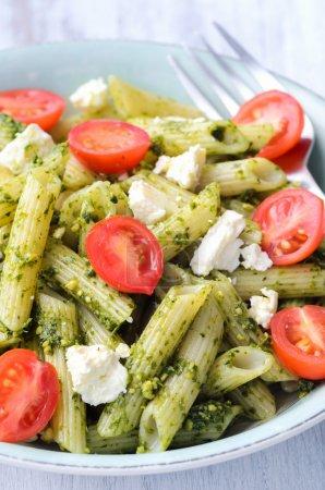 Pasta with green pesto