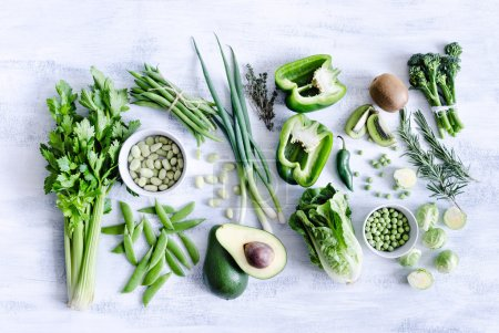 Collection of green vegetables
