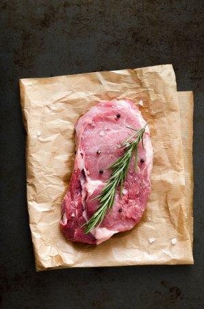 Piece of raw beef steak