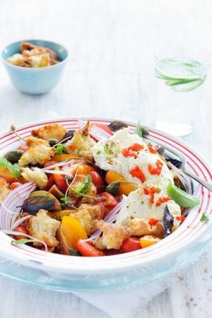 vegetable salad with tomatoes