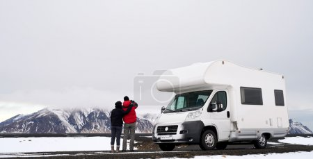 Camper RV couple
