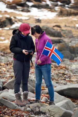 Iceland winter tourists