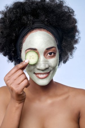 Skincare beauty concept with black african model