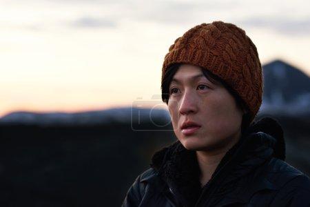 Portrait of asian adventure woman