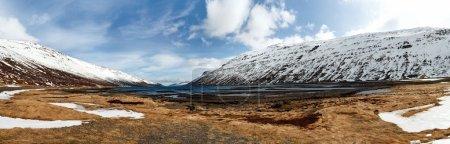 Picturesque mountain Iceland landscape