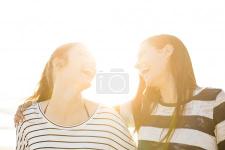 Best friends laughing.