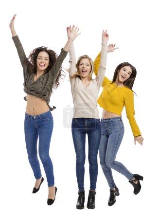Happy teenage girls
