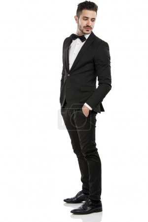 Handsome young man wearing a suit