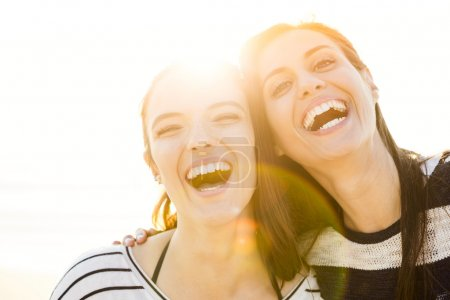 Photo for A portrait of best friends laughing in sunny day - Royalty Free Image