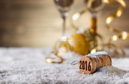 Photo for New Year concept with champagne cork - Royalty Free Image