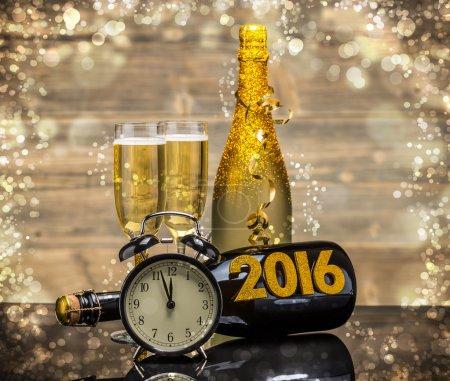Photo for 2016 New Years Eve celebration background - Royalty Free Image
