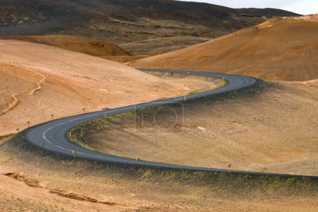 Photo for S-curved road seen in northern Iceland - Royalty Free Image