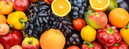Photo pour Collection de fruits et légumes - image libre de droit