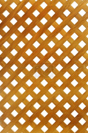Wooden lattice on white