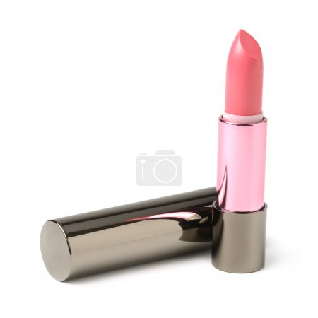 Red lipstick isolated on a white