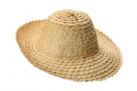 hat made of palm leaves