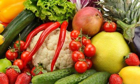 Foto de Verduras y frutas frescas de la variedad - Imagen libre de derechos