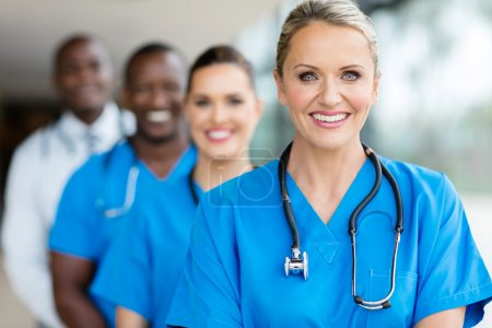 medical professionals in hospital