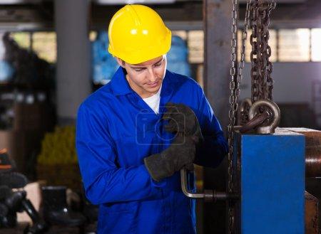 Repairman fixing machine