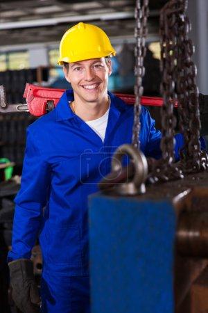 Male industrial repairman