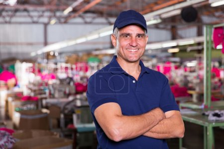 Senior clothing factory owner