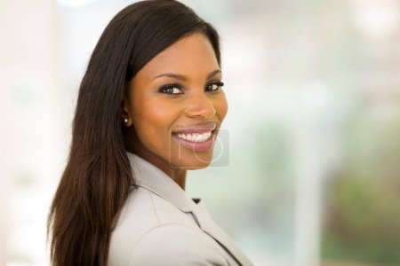young african business woman in office