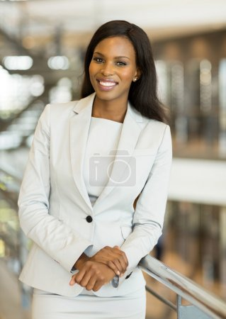 young afro american business woman