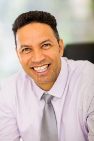 Photo for Close up portrait of happy middle aged businessman - Royalty Free Image