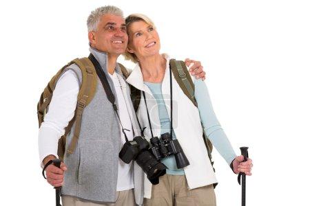 Mid age hiking couple