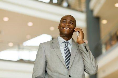 business man talking on smart phone