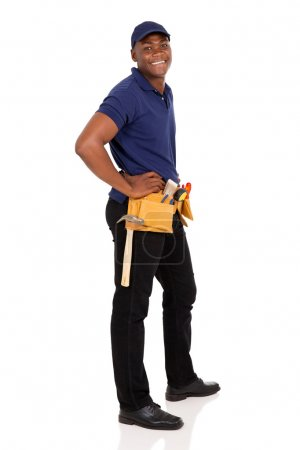 young african handyman