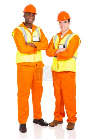 male contractors with arms crossed